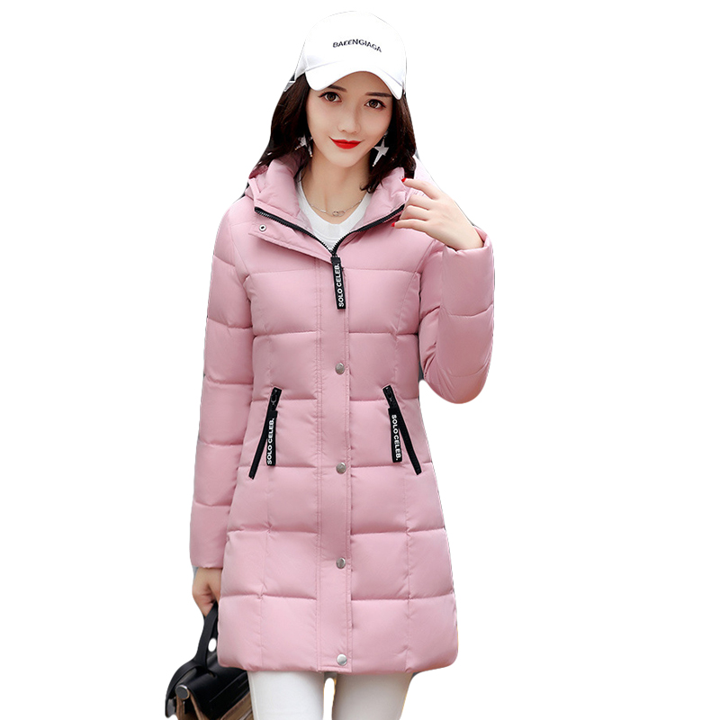 2017 New Female Warm Winter Jacket Women Coat Thick Down Cotton Parkas Cotton Padded Long Jacket Outwear Plus Size M-3XL CM1394 2014 new winter women cotton padded down jacket coat hooded loose plus size coats warm thick outwear big pockets ry143