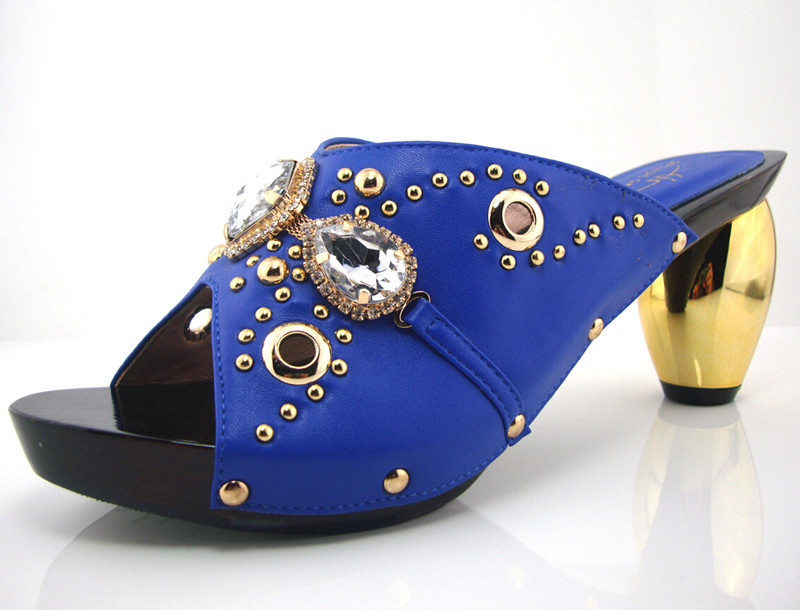 ФОТО Greatful blue fashion Design European Ladies Shoes African Wedding Pumps For Big Party On Promotion!RL1-23