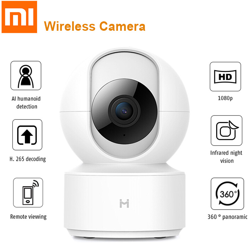 Xiaomi Youpin IMILAB Infrared Night Vision Wireless IP Camera 360 Degree Panoramic 1080P Al Humanoid Detection