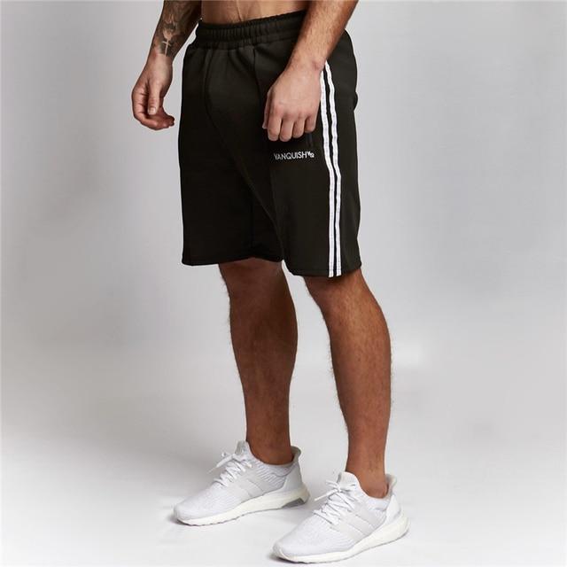 2018 nuevo verano Moda hombre Shorts hombres Crossfitss gimnasios  Bodybuilding Fitness Color empalme short Pant Marca cda9f13364c7