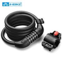 INBIKE Bicycle Lock Bike Combination Security Rope Lock Cycling Cable Lock Code Bicycle Anti theft Password Chain Folding Lock