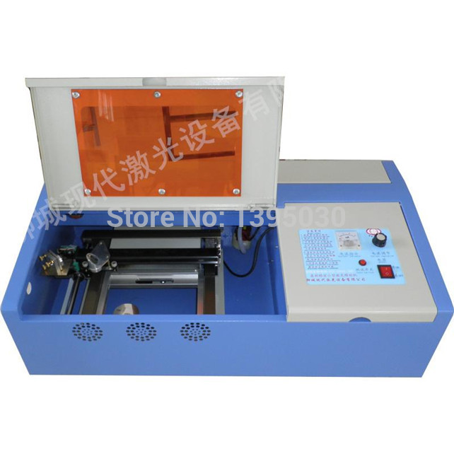 Hot Sale Free Shipping By DHL 1PC CO2 40W Laser Engraving Cutting Machine Engraver with go up and down function