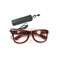 10 видов цветов Выберите 100 шт. EL Wire мигающие очки + 3 в Голосовое управление инвертор мерцающий свет светодиодные очки вечерние продукт катег