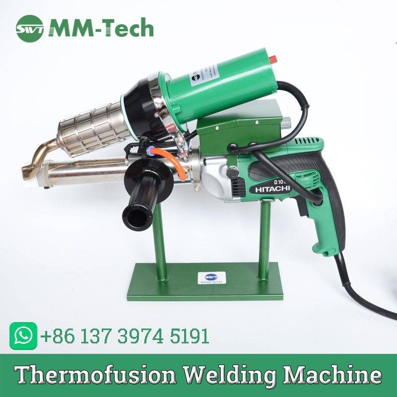 Plastic extrusion welding gun HDPE pipe hand welding extruder plastic welder manual extruder machine for PP rods EYOYO