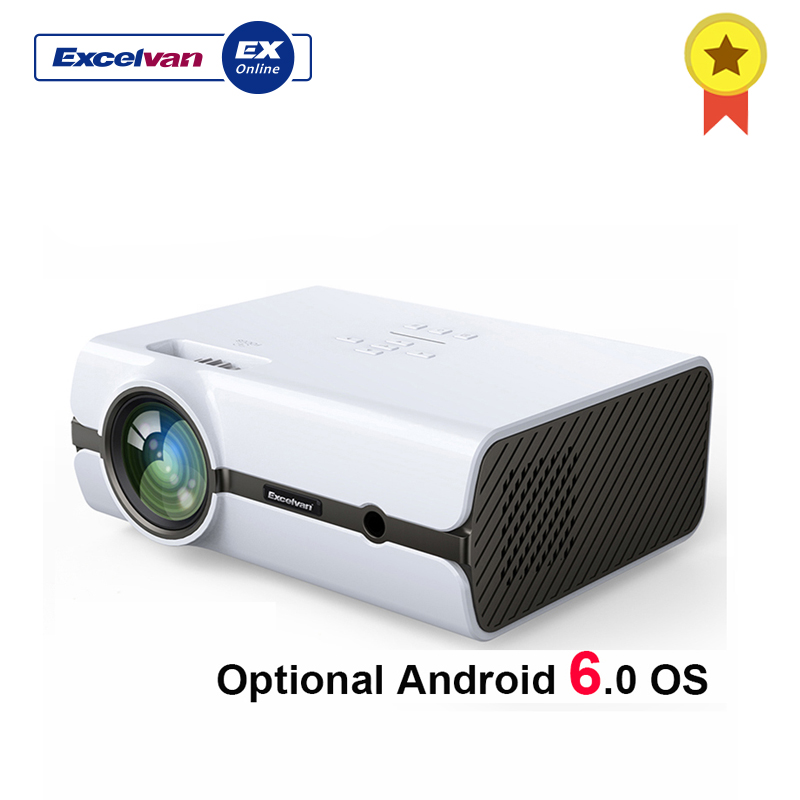 Projecteur LCD Excelvan BL45 BL46 2000 lumens (Android Wifi Bluetooth en option 1G + 8G) Home cinéma 1080 P LED projet multimédia TV