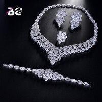 Be 8 Charm Dubai Jewelry Sets Nigerian Wedding African Beads Crystal Bridal Jewellery Set Ethiopian Jewelry Parure 4pcs S175