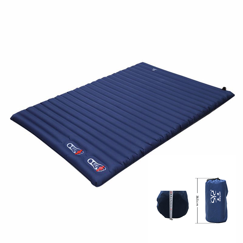 Outdoor Double Inflatable Cushion Sleeping Bag Mat Fast Filling Air Moistureproof Camping Mat With Pillow Sleeping Pad Air Mat naturehike sleeping pad fast filling air bag super light camping mat with pillow portable beach mat for rescue life cushion 550g