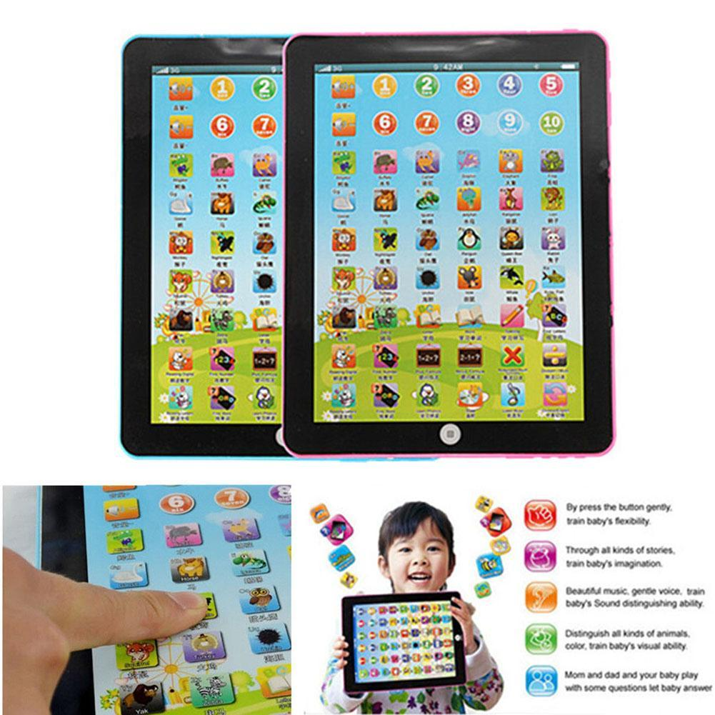 Tablet Pad Computer For 1-6 Year Kid Learning English Educational Teach Toy Gift