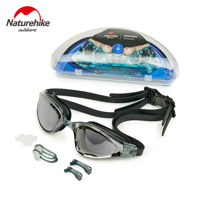 a976a2357e1 Naturehike Swimming Eyewear 3 Colors Anti-fog Swimming Goggles Adult UV  Protection HD Swimming Glasses Men Women