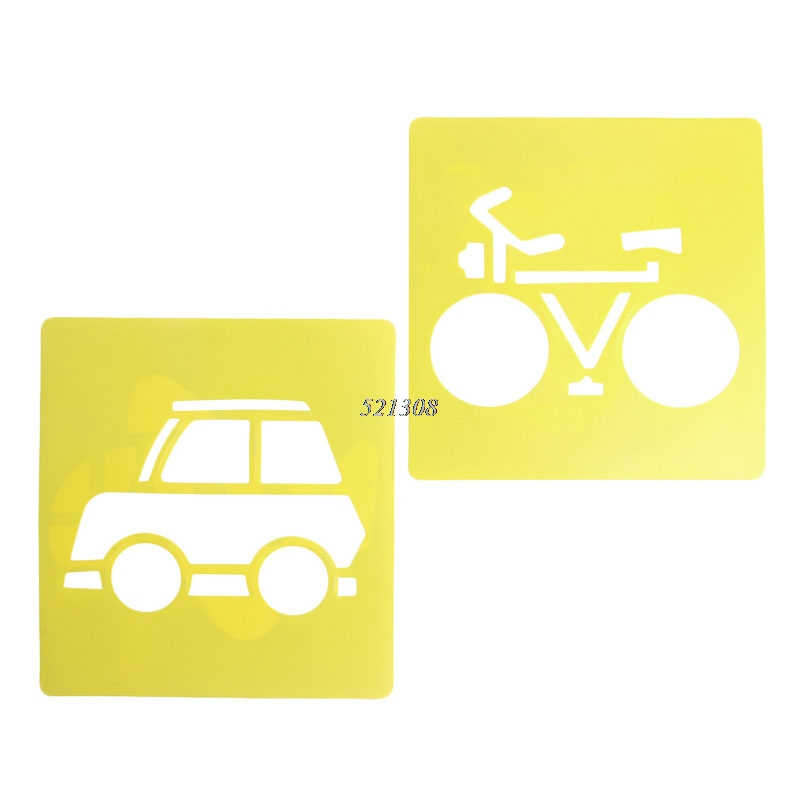 2017-Children-Transport-Shaped-Plastic-Painting-Drawing-Template-Stencil-Kids-Toy-6pcsset-FEB2330-5