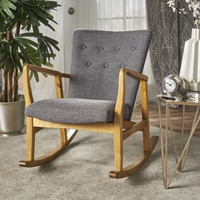 Collin Mid века ткань кресло качалка