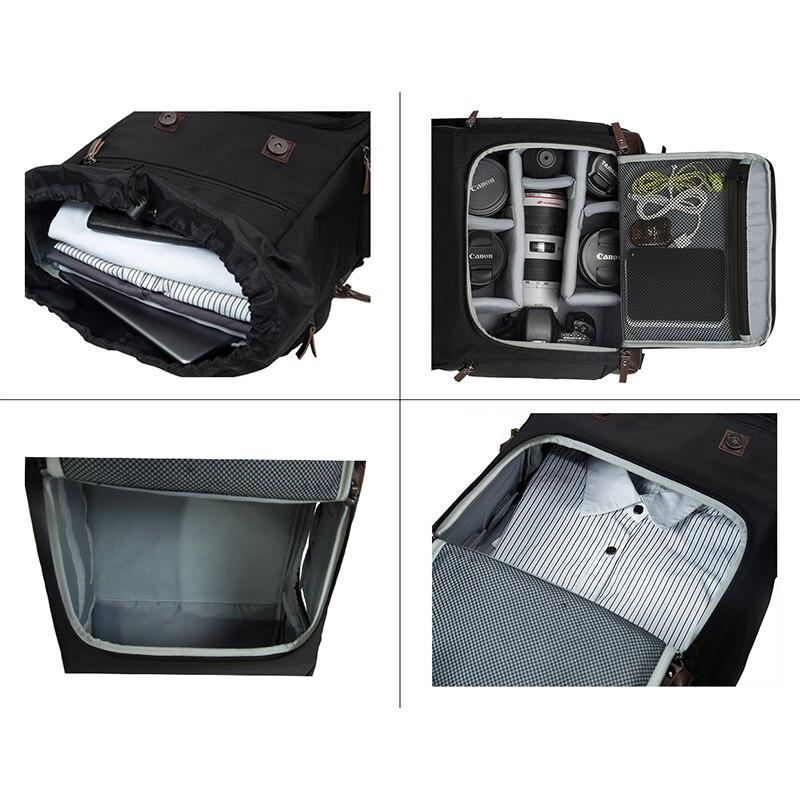 Sac Toile Étanche Pour grey Multifonctionnel Dos À Bagsmart Voyage National Geographic Cuir Black Caméra En sdCxrBhtQ