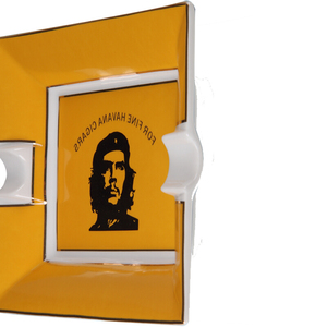Image 4 - COHIBA CERAMIC 2 Rests Havana Cigar Ashtray Portraiture Pattern Creative Design Smoking Ash Tray Cigar accessories asbak buiten