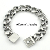Magnetic Punk Rock Silver 316L Stainless Steel Bracelet Charms New Top Quality Elastic Bracelet Hand Chain