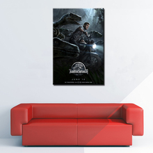 Dinosaurs Jurassic World Poster Canvas Print Wall Art Picture Home