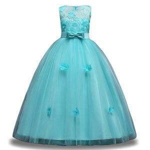 Image 5 - 女の子夏7 8 9 10 11 12年ウェディングフラワーガールズドレスための子供パーティードレス子供衣装服