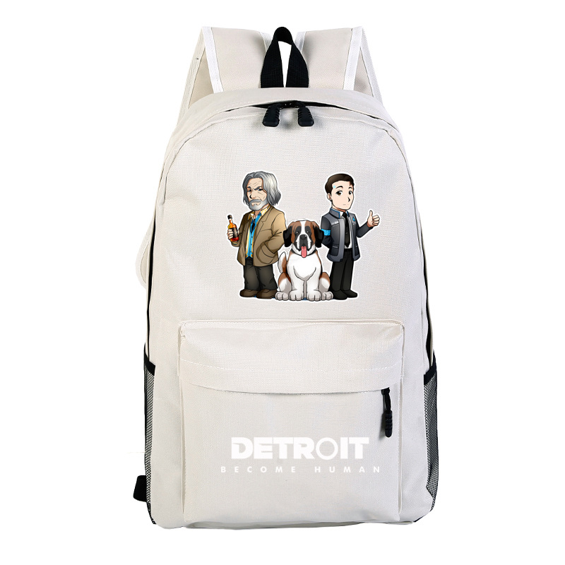 2019 Detroit: Become Human Boys and girls Backpack Cosplay Canvas Bag Schoolbag Travel Bags