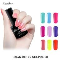 Saroline Art Varnishes Long Lasting 8ML UV Gel Polish UV Led Shining Nail Gel Lacquer Beauty Nail Soak Off UV Nail Gel Polish