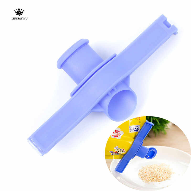 Reuseable Food Snack Fresh Storage Seal Sealing Bag Clips Sealer Clamp Bag Clips Kitchen Sealer With A Cap Type Spray Nozzle