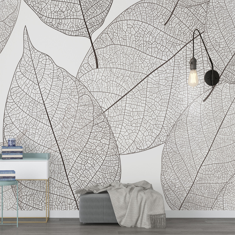 Custom Mural Wallpaper Modern Minimalist Leaf Veins Texture Wallpaper Living Room Bedroom Background Mural Wallpaper Home Decor