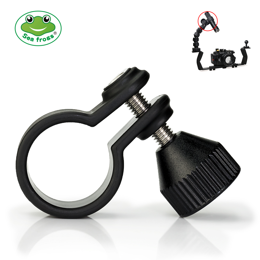 Camera Flashlight Holder For Diameter 20 to 38mm Lamp Adjustable Screw Fixed Flash Stand Diving Sports Photograph Accessory