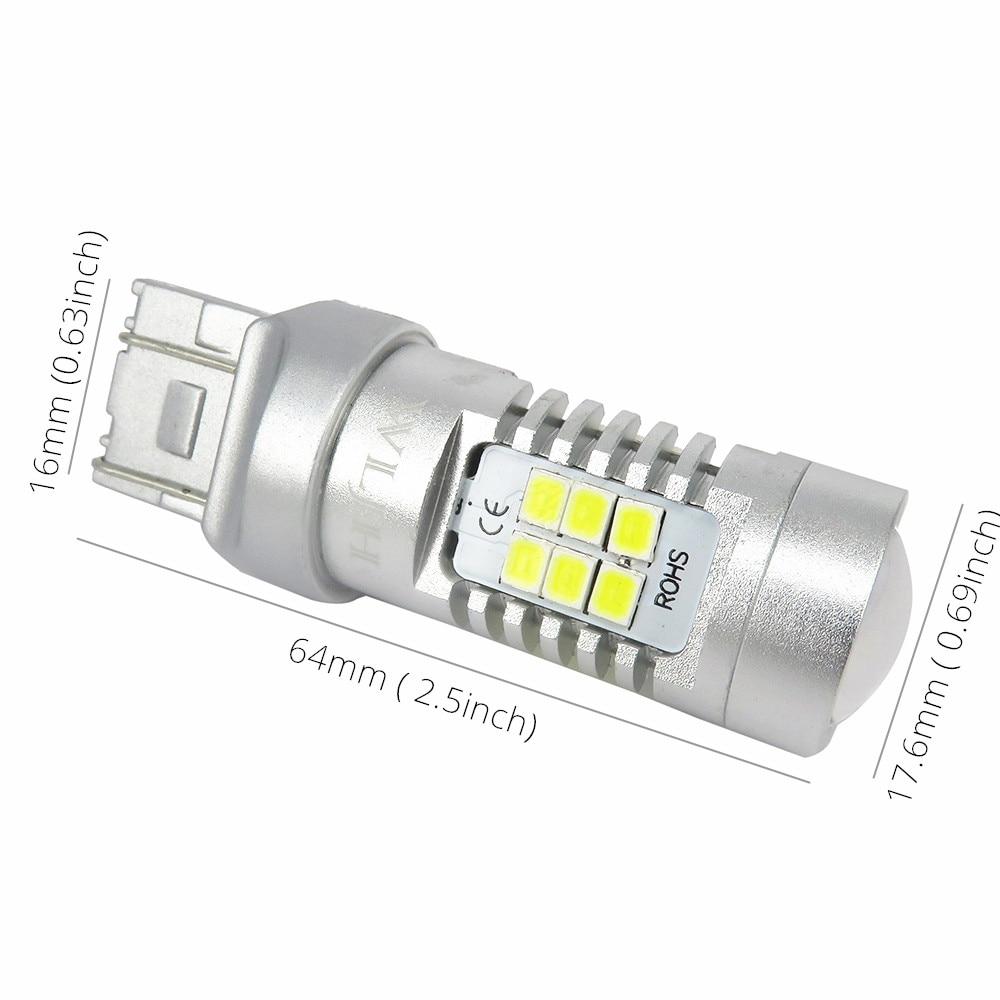 LEDIN 2 Pcs of Amber 15 LED Bulb Parking Light 7443 7440 992 T20 7441