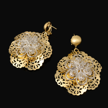 Fashion  Flower Silver/Gold Color Jewelry Set