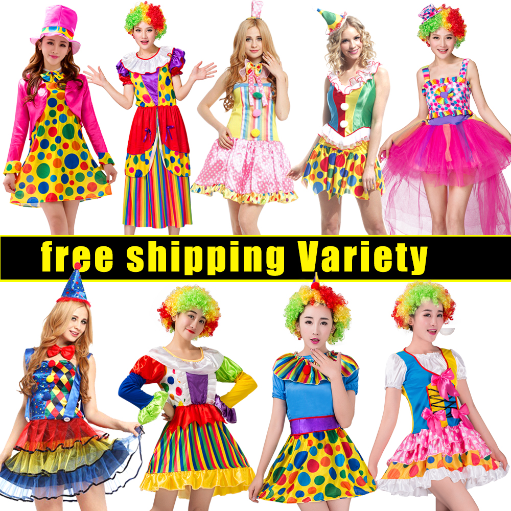 NoEnName Gratis forsendelseHoliday Cosplay Party Dress Up Clown Suit - Kostumer - Foto 2