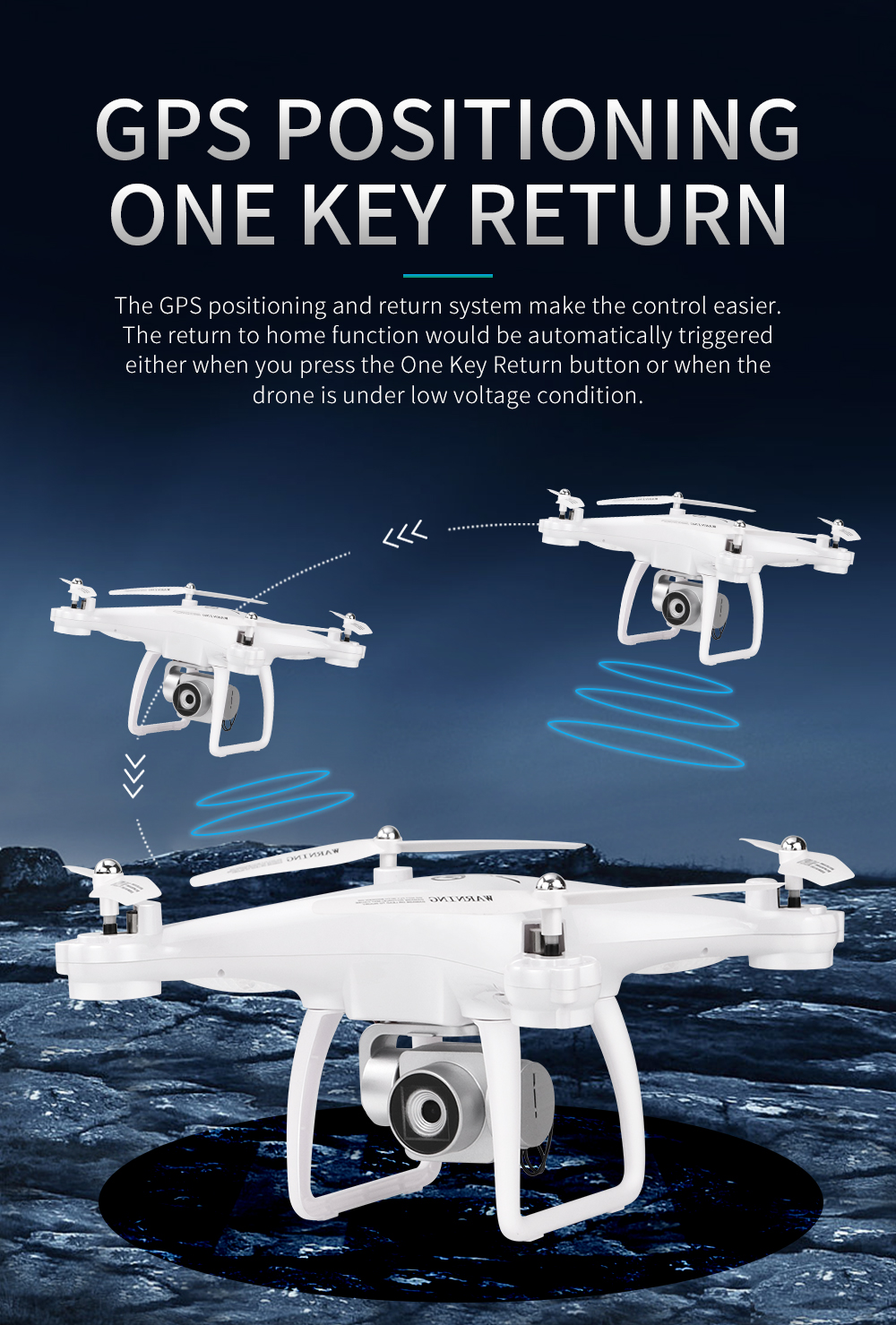 JJRC H68G GPS Drone With Camera 1080P HD 5G Wifi FPV Quadrocopter RC Helicopter Professional Dron Compass Auto Follow Quadcopter 9