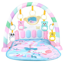 цена на Baby carpet crawling educational electronic music game ABS plastic crib toy baby rattle toy bed bell fitness mat