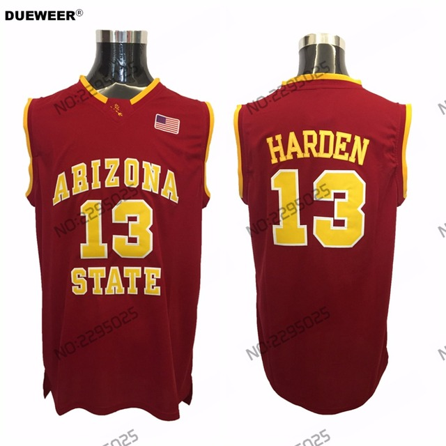 newest 092d2 738ff best price arizona state 13 james harden red college ...