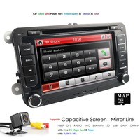 7 Car Multimedia player 2 Din Auto radio For VW/Golf 5/Passat b6/SEAT Leon/Tiguan/Skoda/Octavia/POLO GPS Car Radio CAMERA