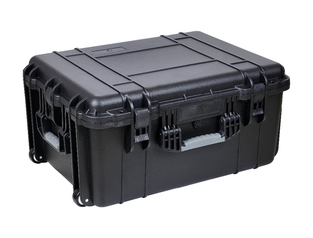 Wheeled Plastic Display Case Without Foam,empty Flight Case With Wheels