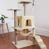 4 кошки с использованием кошки кроватка для собачки Скребок Игрушка 115x48x42 см сильная несущая напольная структура кошка мебель забавные това