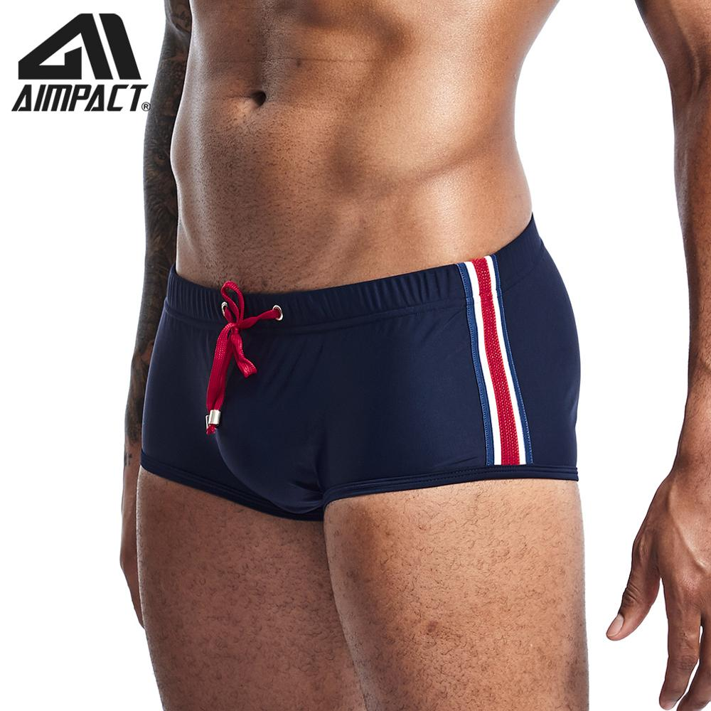 2019 Men's New Swimwears Fashion Sexy Holiday Swimming Shorts Male Surf Beach Square Leg Swim Trunks Swimsuits By Aimpact AM8147