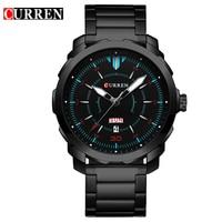 2017 Curren Watch Men Top Brand Luxury Quartz Watch Fashion Casual Men Wristwatch Calendar Army Military