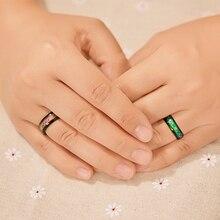 Fashion Titanium Black Mood Rings Temperature Emotion Feeling Engagement Rings for Couples