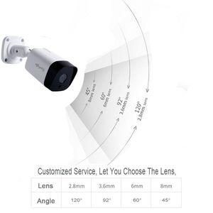 Image 3 - Kingkonghome POE IP カメラ 1080P 2.8 ミリメートルレンズ金属 ONVIF ネットワークセキュリティカメラ CCTV P2P モーション検知屋外 IP カム