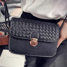 Fashion Small Bag Metal Color Kintting Women Messenger Bag Female Handbag Shoulder Bag Women Clutch Bag Bolsa Feminina Dec28