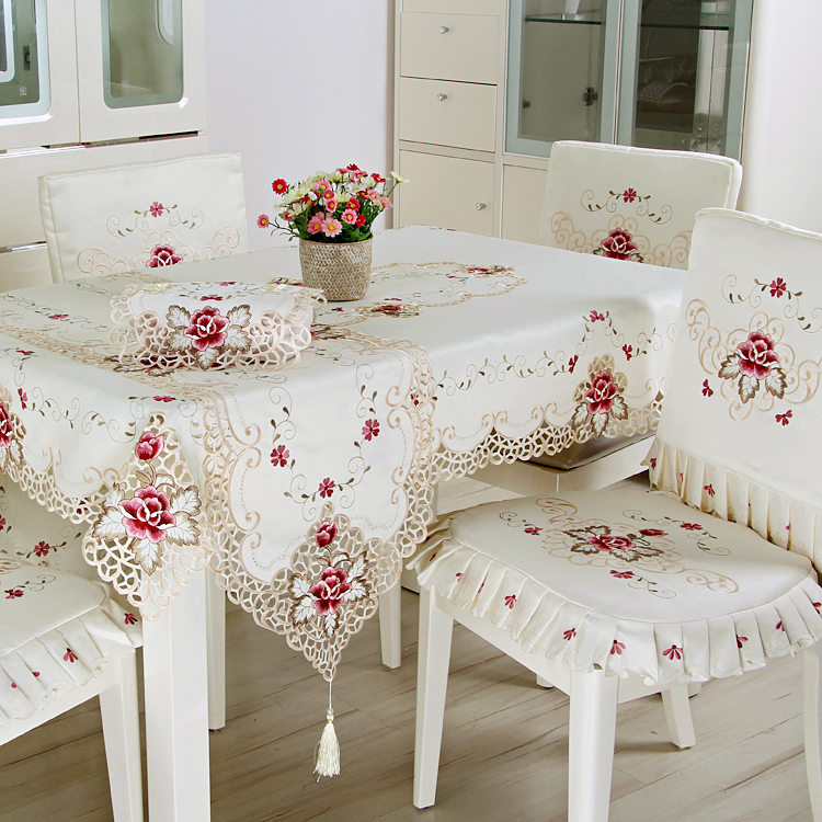 Great Luxury Europe Style Tablecloths Jacquard Embroidery Floral Table Cover  Handmade Embroidered Table Cloth Cover Overlays 0518 In Tablecloths From  Home ...