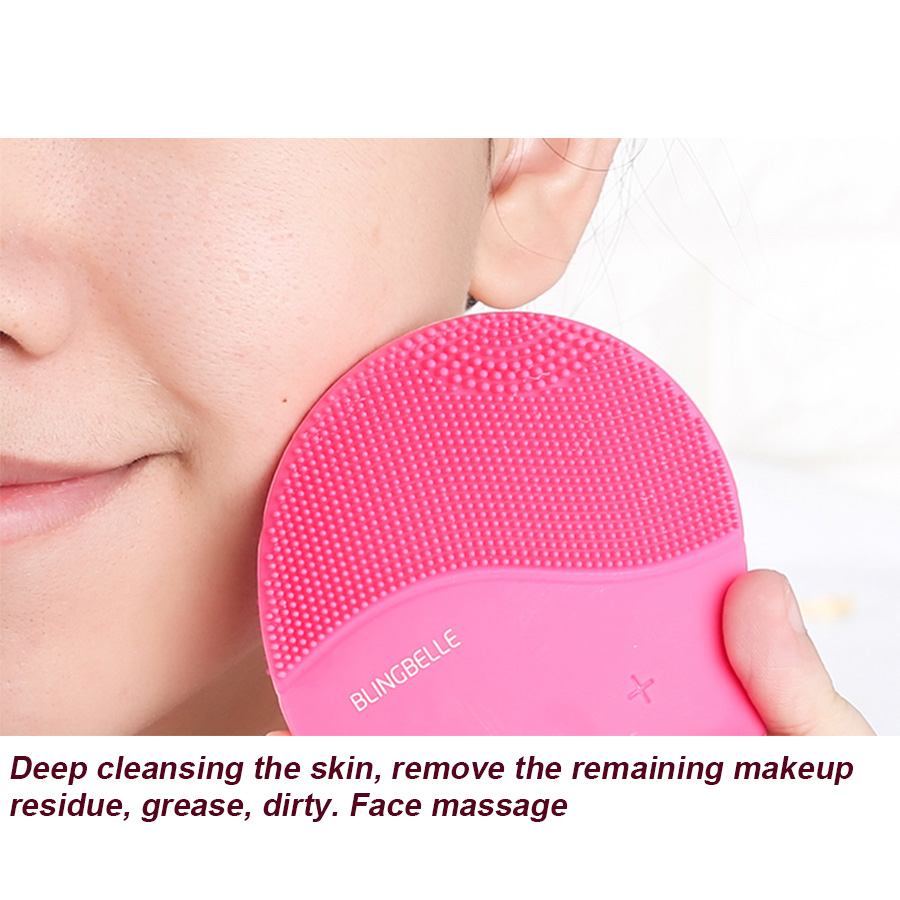 Profession Beauty Massage Instrument silicone Facial Skin Cleansing machine 3D Electric Face Clean Brush Cosmetic Makeup Tool electric 3d silicone massage ultrasonic facial cleansing brush beauty instrument pores cleaner face vibration spa usb recharge