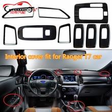 Citycarauto 9 шт./компл. нержавеющая стальная подкладке Windows накладка подкладке кнопка панели крышка подходит для Ranger T7 2015-2017