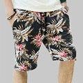 Летние Случайные Шорты Человек Новый 2016 Основные печатные Пляж Свободные Шорты Borad шорты Бермуды мужские Короткие Masculino
