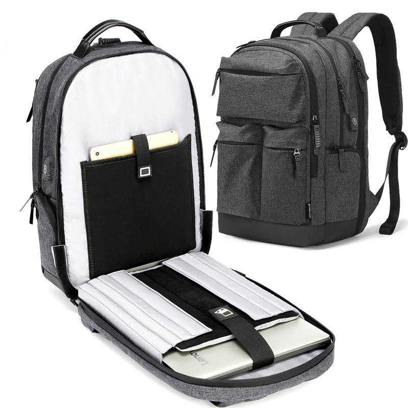 business casual mens backpack water-proof trend multi-function usb computer backpack large capacity travel bagbusiness casual mens backpack water-proof trend multi-function usb computer backpack large capacity travel bag