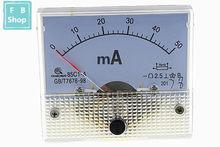 1PCS 85C1-mA 30mA 50mA 100mA 200mA 300mA 500mA DC amperímetro ponteiro 85C1 série analógico AMP medidor 64*56mm tamanho