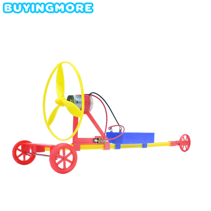 Air Paddle Electric Racing Model Kit Toys For Boys DIY Creative Physics Science Experiment Handmade Set Assembly Car Toy Gifts