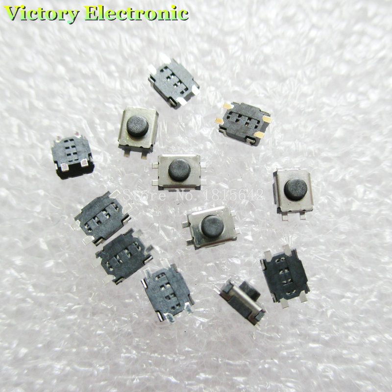 100PCS/LOT 3*4*2mm SMD Switch 4 Pin Touch Micro Switch Tact Push Button Switches 3x4x2H Mini Buttons
