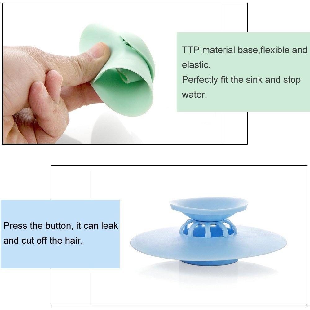 Shower Drain Stopper Floor Drain Rubber Circle Silicone Plug for Shower Bathtub Plug Bathroom Leakage-proof Drain PVC Sink Basin