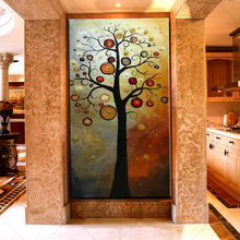 HASYOU Abstract Money Tree Oil Painting Modern Large Canvas Art Farmhouse Wall Decor Mural Poster Decals