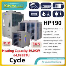 65 000BTU 19KW cycle type air source heat pump water heater for air conditioner please check